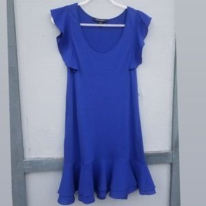 French Connection- Royal Blue Ruffled Dress/Top